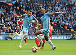 Manchester City's Nicolas Otamendi and Vincent Kompany compete for a ball during the FA Cup Semi Final match at Wembley Stadium, London. Picture date: April 23rd, 2017. Pic credit should read: David Klein/Sportimage