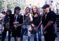 AC/DC Stills from their performance on the Howard Stern Movie. Location Bryant Park New York City July 2006