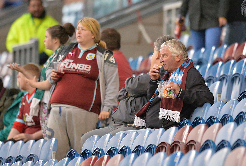 Fans during the evening<br /> <br /> Photographer Dave Howarth/CameraSport<br /> <br /> Football - The Football League Sky Bet Championship - Burnley v Milton Keynes Dons - Tuesday 15th September 2015 - Turf Moor - Burnley<br /> <br /> &copy; CameraSport - 43 Linden Ave. Countesthorpe. Leicester. England. LE8 5PG - Tel: +44 (0) 116 277 4147 - admin@camerasport.com - www.camerasport.com