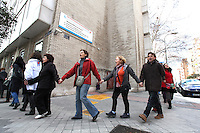 """Hug the hospital Gregorio Marañon"" against the privatization of the public health in Spain"