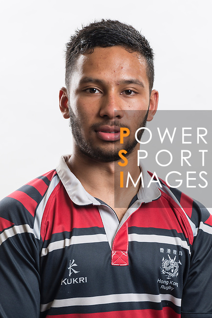Hong Kong Junior Squad team member Jason Jeyam poses during the Official Photo Session Day at King's Park Sports Ground ahead the Junior World Rugby Tournament on 25 March 2014. Photo by Andy Jones / Power Sport Images
