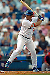 19 March 2006: Ricky Ledee, outfielder for the Los Angeles Dodgers, at bat during a Spring Training game against the Washington Nationals at Holeman Stadium, in Vero Beach, Florida. The Dodgers defeated the Nationals 9-1 in Grapefruit League play...Mandatory Photo Credit: Ed Wolfstein Photo..