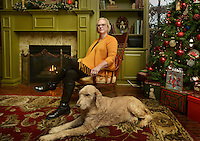 NWA Democrat-Gazette/BEN GOFF @NWABENGOFF<br /> Shay Lastra poses for a photo with her dog Neo on Monday Dec. 5, 2016 in her favorite personal space at her home in Rogers.