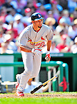 29 August 2010: St. Louis Cardinals third baseman Pedro Feliz in action against the Washington Nationals at Nationals Park in Washington, DC. The Nationals defeated the Cards 4-2 to take the final game of their 4-game series. Mandatory Credit: Ed Wolfstein Photo