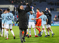 Manchester City's manager Pep Guardiola celebrates victory over Leicester City<br /> <br /> Photographer Andrew Kearns/CameraSport<br /> <br /> English League Cup - Carabao Cup Quarter Final - Leicester City v Manchester City - Tuesday 18th December 2018 - King Power Stadium - Leicester<br />  <br /> World Copyright © 2018 CameraSport. All rights reserved. 43 Linden Ave. Countesthorpe. Leicester. England. LE8 5PG - Tel: +44 (0) 116 277 4147 - admin@camerasport.com - www.camerasport.com
