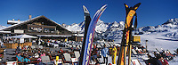 "Europe/France/Rhone-Alpes/73/Savoie/Courchevel 1850 : Terrasse du restaurant de piste ""Le Cap Horn"""