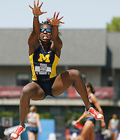 Bettie Wade in the Hep. Long Jump Saturday, June 28th. 2008. Photo by Errol Anderson The Sporting Image.