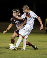 The Winthrop University Eagles played the College of Charleston Cougars at Eagles Field in Rock Hill, SC.  College of Charleston broke the 1-1 tie with a goal in the 88th minute to win 2-1.  Magnus Thorsson (8), Adriano Negri (17)