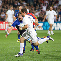 Rugby World Cup Auckland  England v France  Quarter Final 2 - 08/10/2011.Ben Foden  (England)  runs with the ball.Photo Frey Fotosports International/AMN Images