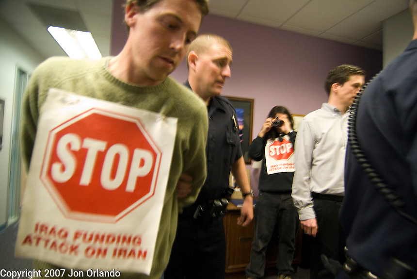 On March 8th, dozens of residents of Colorado participated in a national action called The Occupation Project in which residents occupied the offices of key congressional representatives in an effort to encourage them to vote against funding for the Iraq War. In Colorado the offices of Ken Salazar, Mark Udall, and Dianna DeGette were occupied and five demonstrators were arrested at Mark Udall's office after refusing to leave.