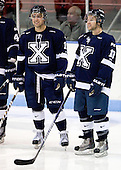 ?, Brett Morrison (StFX - 10) - The visiting St. Francis Xavier University X-Men defeated the Northeastern University Huskies 8-5 on Sunday, October 2, 2011, at Matthews Arena in Boston, Massachusetts.