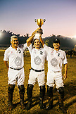 MEXICO, San Pancho, San Francisco, La Patrona Polo Club, a few of the players pose with the trophy after the match