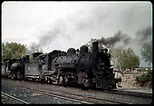 D&amp;RGW #493 K-37 and #492 K-37 possibly in Alamosa.<br /> D&amp;RGW  Alamosa, CO