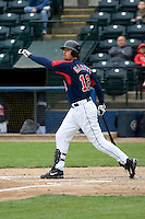 June 1, 2008: Tacoma Rainiers' Shawn Garrett at-bat during a Pacific Coast League game against the Salt Lake Bees at Cheney Stadium in Tacoma, Washington.