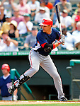 16 March 2009: Washington Nationals' infielder Alex Cintron at bat during a Spring Training game against the Florida Marlins at Roger Dean Stadium in Jupiter, Florida. The Nationals defeated the Marlins 3-1 in the Grapefruit League matchup. Mandatory Photo Credit: Ed Wolfstein Photo