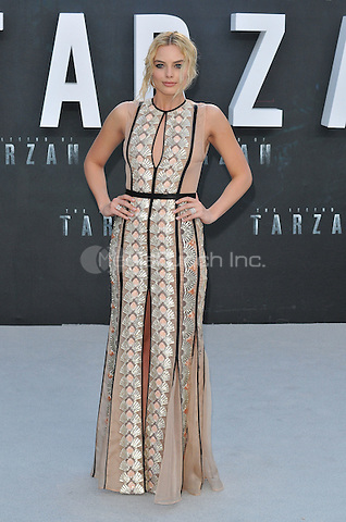 Margot Robbie at the &quot;The Legend of Tarzan&quot; European film premiere, Odeon Leicester Square, Leicester Square, London, England, UK, on Tuesday 05 July 2016.<br /> CAP/CAN<br /> &copy;Can Nguyen/Capital Pictures /MediaPunch ***NORTH AND SOUTH AMERICAS ONLY***