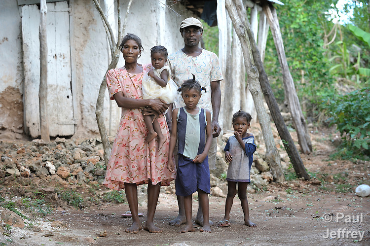 A family in the Haitian village of Mizak.