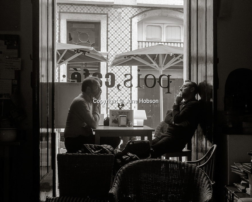 Lisbon, Portugal. 21.03.2015. Pois Cafe in the Alfama district of Lisbon. © Jane Hobson.
