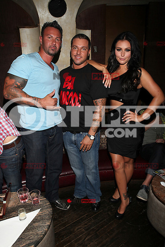 JWOWW, Roger Matthews and Anthony Cracchiolo  attend Inked Magazine release party celebrating August issue, New York. July 17, 2012 &copy; Diego Corredor/MediaPunch Inc. /NortePhoto.com<br />