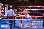 NOV 23 2019 Las Vegas Nevada: Omar Juarez, (White blue Trunks)  142.5pbs Brownsville, TX vs Kevin Shacks, (Black Silver Trunks) 143.5lbs  Lansing, MI. Super Lightweight 6 round on FS2/PBC