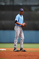 Tampa Bay Rays pitcher Luis Moncada (79) gets ready to deliver a pitch during a Florida Instructional League game against the Baltimore Orioles on October 1, 2018 at the Charlotte Sports Park in Port Charlotte, Florida.  (Mike Janes/Four Seam Images)