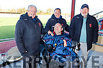 Kerry soccer legend Christy Leahy celebrates his birthday in Mounthawk Park on Sunday.<br /> L to r: George Snr and George Dineen Jnr, Pa Kerins and Christy Leahy