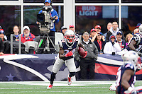 Sunday, October 2, 2016: New England Patriots cornerback Cyrus Jones (24) returns a kickoff during the NFL game between the Buffalo Bills and the New England Patriots held at Gillette Stadium in Foxborough Massachusetts. Buffalo defeats New England 16-0. Eric Canha/Cal Sport Media