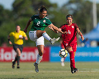 Bradenton, FL - Sunday, June 12, 2018: Reyna Reyes, Talia DellaPeruta during a U-17 Women's Championship Finals match between USA and Mexico at IMG Academy.  USA defeated Mexico 3-2 to win the championship.