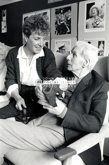 Pennine Day Centre, Nottingham UK 1987 - looking at old things