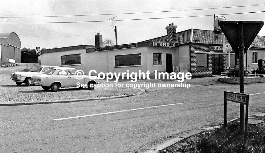 The Three Steps Inn near Forkhill in N Ireland where the abduction of Captain Robert Nairac, a British Army officer, took place. 147/77, 197705000147e.<br />