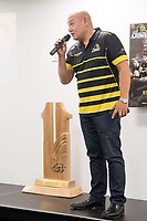 Michael Chow speaks to the guests during the Wellington Lions season launch at 89 Courtenay Place in Wellington, New Zealand on Friday, 11 August 2017. Photo: Marty Melville / lintottphoto.co.nz