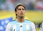 24 June 2006: Gabriel Heinze (ARG). Argentina (1st place in Group C) defeated Mexico (2nd place in Group D) 2-1 after extra time at the Zentralstadion in Leipzig, Germany in match 50, a Round of 16 game, in the 2006 FIFA World Cup.