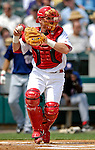 14 March 2007: St. Louis Cardinals catcher Gary Bennett in the action against the Washington Nationals at Roger Dean Stadium in Jupiter, Florida...Mandatory Photo Credit: Ed Wolfstein Photo