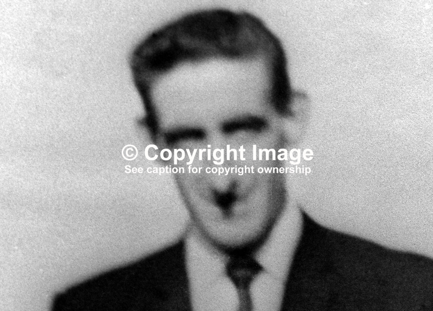Charles McCafferty, 30 years, married, Roman Catholic, Londonderry, who died in UDA/UFF gun attack on the Top of the Town bar in the Waterside district of the city, 20th December 1972, 197212200784<br />