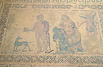 Paphos, Pafos, House of Dionisos, Mosaic-Work, Cyprus, Zypern.