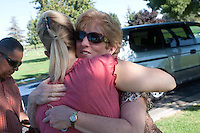 Dee Anna Anes joined the Mothers of an Angel support group after her daughter Hilary Nicole Sloane died. Dee Anna's husband Jose Anes, Martha and Kim Libecki are pictured in Fowler, California. Martha Tessmer started the Mother of an Angel Friendship Network after her teenage son Donovan died in a distracted driving car accident. The support group is for mothers who have lost a child to death.
