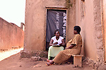Community Health Worker, Harriet Mukandamage, advises an 8-month pregnant woman with twins in Rukomo Center, Rwanda.  Harriet speaks to her about  hygiene, eating a balanced diet, and sleeping under a mosquito net,.....