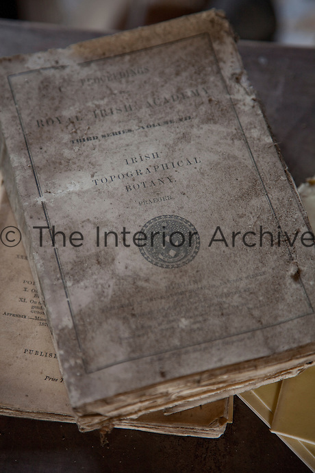 A mildewed copy of 'The Proceedings of the Royal Irish Academy'