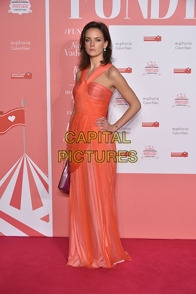 Charlotte Carroll<br /> arrivals at London's Fabulous Fund Fair 2016 in aid of the Naked Heart Foundation at Old Billingsgate Market on 20th February 2016.<br /> CAP/PL<br /> &copy;Phil Loftus/Capital Pictures