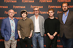 """Mark Lambert, Fra Feee, Stuart Graham, Tom Glynn-Carney and Justin Edwards attend the Meet the Broadway cast of """"The Ferryman"""" during the press photo call on October 4, 2018 at Sardi's in New York City."""