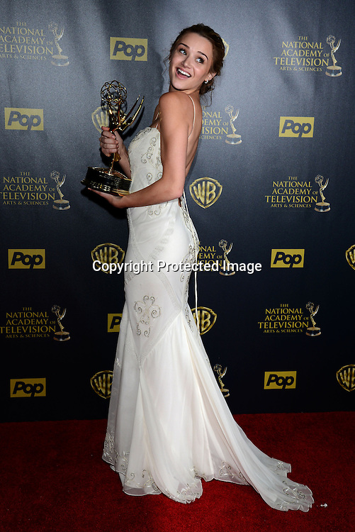 winner Hunter King attends the 42nd Annual Daytime Emmy Awards Press Room on April 26, 2015 at Warner Bros Studio in Burbank, California, USA