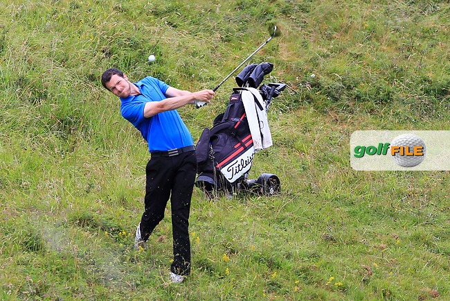 Keith Murphy during Round 2 of the North of Ireland Amateur Open Championship 2019 at Portstewart Golf Club, Portstewart, Co. Antrim on Tuesday 9th July 2019.<br /> Picture:  Thos Caffrey / Golffile<br /> <br /> All photos usage must carry mandatory copyright credit (© Golffile | Thos Caffrey)