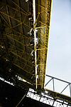 09.03.2019, Signal Iduna Park, Dortmund, GER, 1.FBL, Borussia Dortmund vs VfB Stuttgart, DFL REGULATIONS PROHIBIT ANY USE OF PHOTOGRAPHS AS IMAGE SEQUENCES AND/OR QUASI-VIDEO<br /> <br /> im Bild   picture shows:<br /> Kurzer Moment mit Sonnenschein, Dach, Signal Iduna Park, <br /> <br /> Foto &copy; nordphoto / Rauch