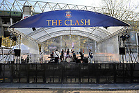 A general view of the main stage. The Clash, Aviva Premiership match, between Bath Rugby and Leicester Tigers on April 8, 2017 at Twickenham Stadium in London, England. Photo by: Rob Munro / Onside Images