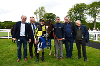 Connections of Dandy Flame in the winners enclosure during Afternoon Racing at Salisbury Racecourse on 18th May 2017