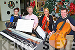 FINLAY ENSEMBLE: Member's of the Kerry School of Music who held a Finlay Ensemble at the Manor West retail centre, Tralee on Friday l-r: Lucy Tanner, Aidan O'Carroll, Dovile Baltoniene and Stephen O'Halloran.