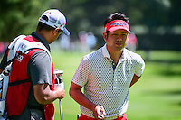 Yuta Ikeda (JPN) after sinking his putt on 3 during round 2 of the World Golf Championships, Mexico, Club De Golf Chapultepec, Mexico City, Mexico. 3/3/2017.<br />