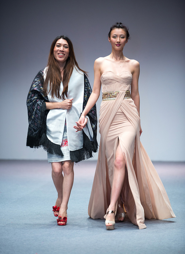 Hong Kong Fashion Week.<br /> Designer Mogok Pauk Pauk from Myanmar presents a catwalk show in the Hong Kong Convention and Exhibition Centre.<br /> Hong Kong SAR,China.14th January 2014.<br /> Hong Kong. Date-14.01.14