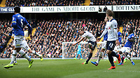 Tottenham Hotspur's Harry Kane scores his sides first goal  <br /> <br /> Photographer Rob Newell/CameraSport<br /> <br /> The Premier League - Tottenham Hotspur v Everton - Sunday March 5th 2017 - White Hart Lane - London<br /> <br /> World Copyright &copy; 2017 CameraSport. All rights reserved. 43 Linden Ave. Countesthorpe. Leicester. England. LE8 5PG - Tel: +44 (0) 116 277 4147 - admin@camerasport.com - www.camerasport.com