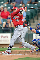 Memphis Redbirds second baseman Tyler Greene #41 swings during a game against the Round Rock Express at the Dell Diamond on July 7, 2011in Round Rock, Texas.  Round Rock defeated Memphis 6-4.  (Andrew Woolley / Four Seam Images)